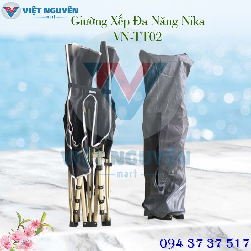 Giường gấp xếp gọn thư giãn văn phòng Nika VN-TT02 giá rẻ