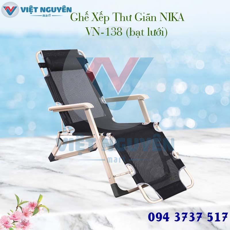 ghế giường gấp xếp thư giãn Nika VN-138 đa năng tại Việt Nguyên Mart
