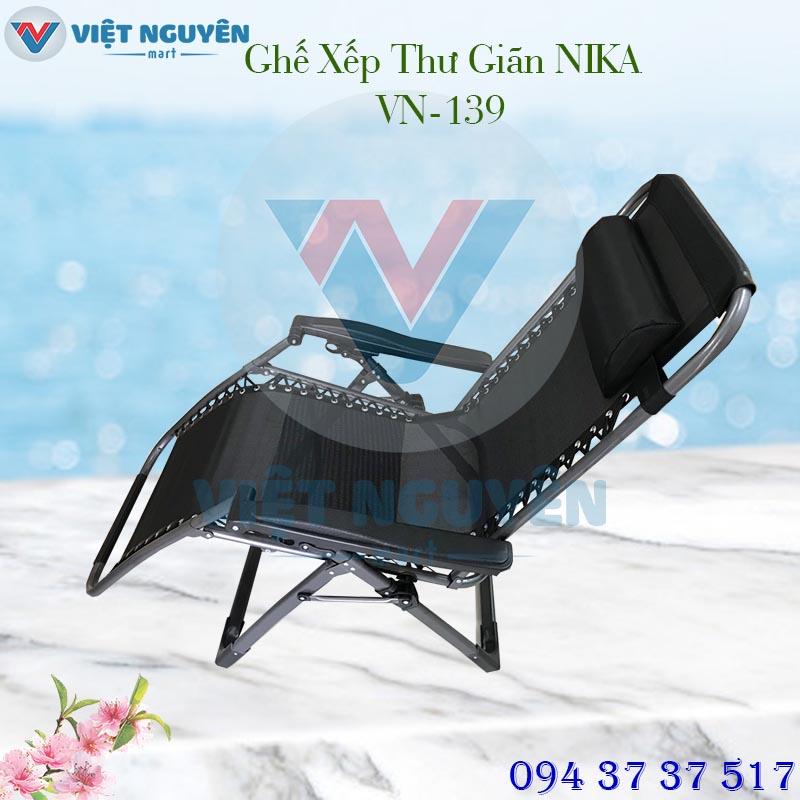 ghế xếp thư giãn cao cấp đa năng NIKA VN-139 thiết kế hiện đại