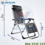 Kích thước ghế xếp thư giãn nika VN-139 khi ngồi