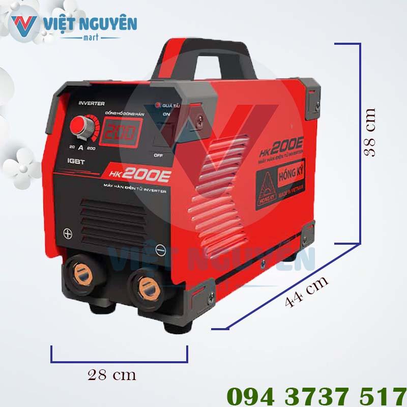 Thông số kỹ thuật máy hàn que điện tử Hồng Ký model HK 200E chính hãng