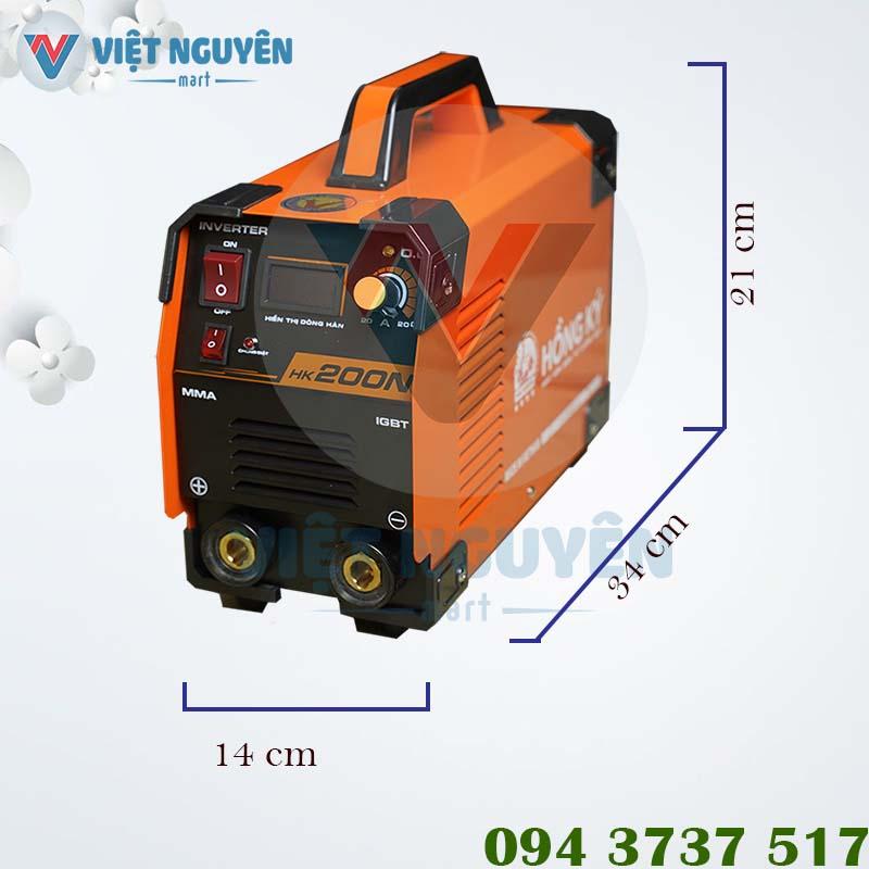 Thông số kỹ thuật máy hàn điện tử Hồng Ký HK 200N chính hãng