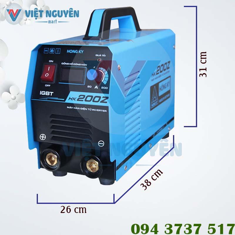 Thông số kỹ thuật máy hàn điện tử Hồng Ký HK 200Z chính hãng