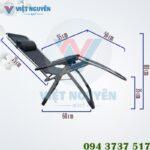 Kích thước sử dụng ghế xếp thư giãn Nika VN-139 ( ngã lưng)