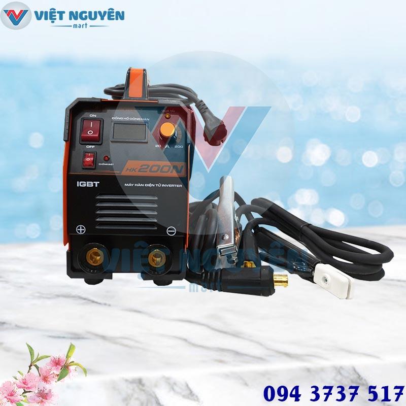 Tiện ích máy hàn que điện tử Hồng Ký model HK 200N inverter cao cấp