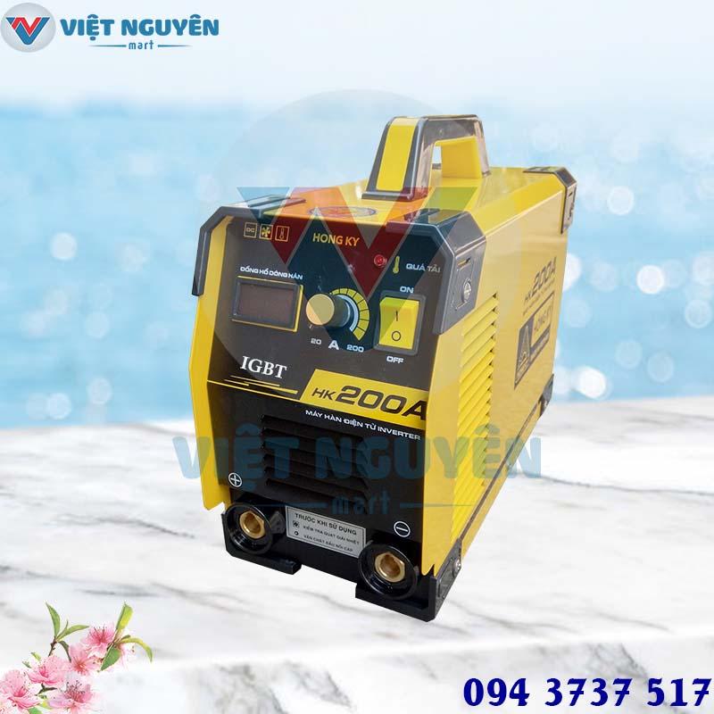 Đại lý máy hàn que điện tử IGBT Hồng Ký HK 200A chính hãng giá tốt - giao hàng nhanh