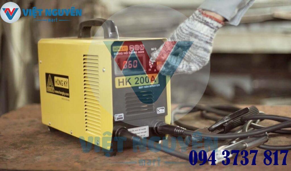Tiện ích máy hàn que điện tử Inverter Hồng Ký HK 200A