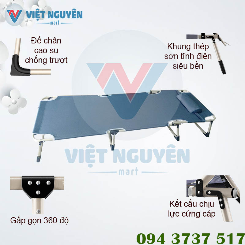 Ưu điểm ghế giường xếp gấp gọn đa năng văn phòng Nika VN-TT05 cao cấp