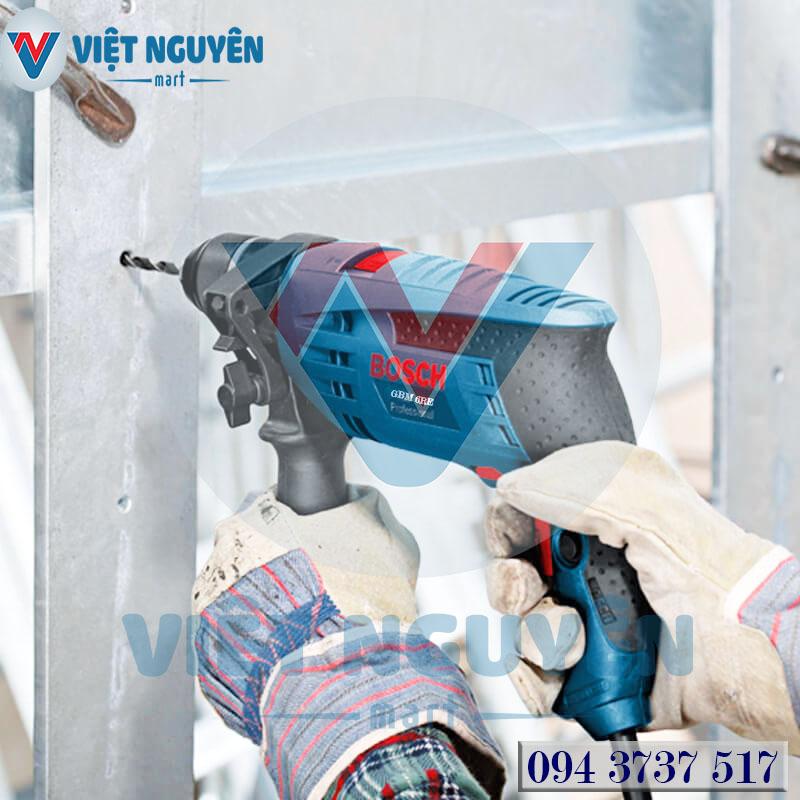 Tiện ích máy khoan sắt điện Bosch GBM 6RE PRO vạn vít đa năng