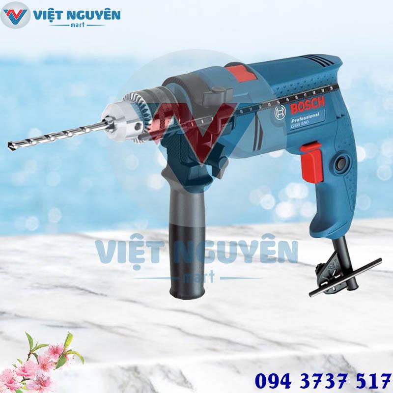 Đại lý máy khoan động lực điện Bosch GSB 550 - SET VALI phụ kiện giá rẻ tại Hồ Chí Minh
