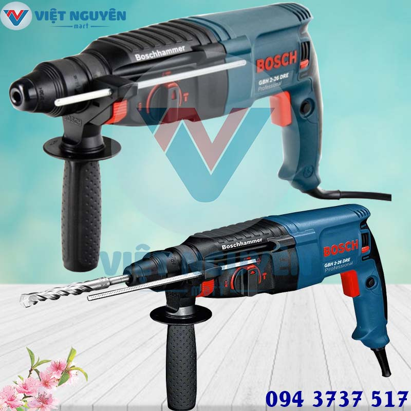 Đại lý máy khoan bê tông khoan búa điện Bosch GBH 2-26DRE mũi SDS Plus giá rẻ tại Tp. Hồ Chí Minh