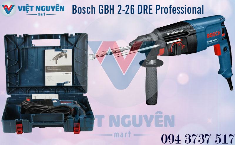 Máy khoan bê tông búa điện kiểu xoay Bosch GBH 2-26DRE