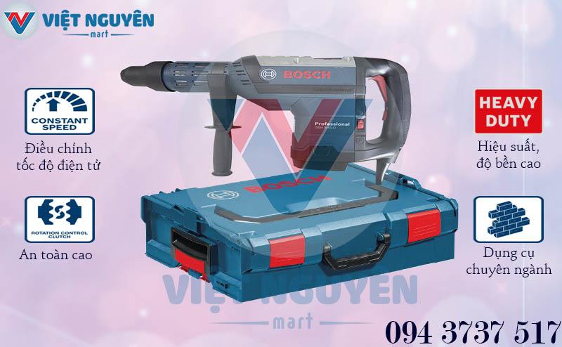 Đặc điểm chỉ có tại máy khoan bê tông búa đa năng Bosch GBH 8-45D