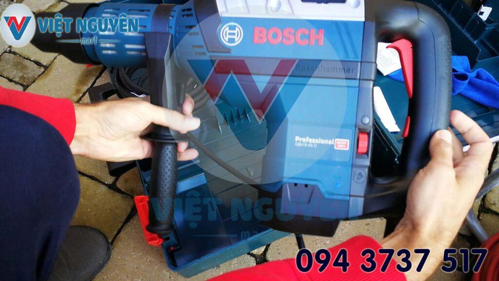 Tiện ích máy khoan búa bê tông điện Bosch GBH 8-45D Professional đa năng