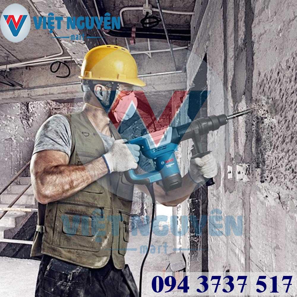 Ứng dụng máy khoan đục phá bê tông Bosch GSH 5 mũi SDS max