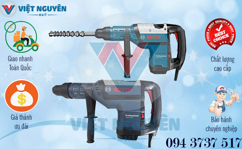 Chính sách bán hàng máy khoan bê tông búa Bosch GBH 8-45D Professional chính hãng