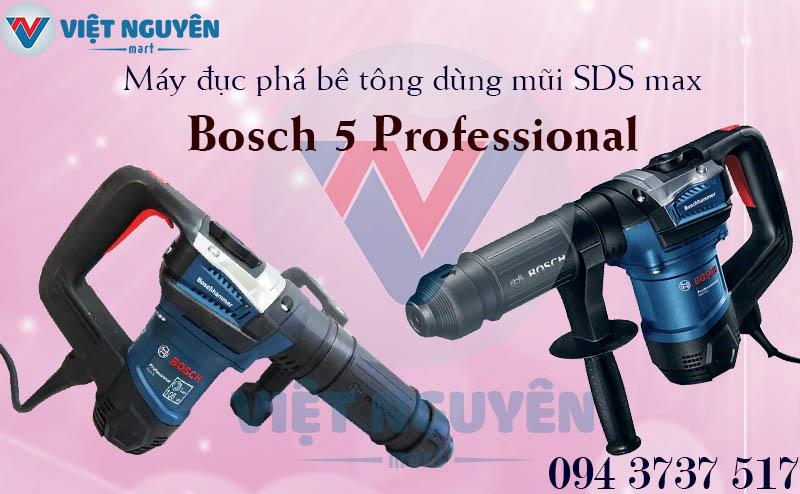 Máy Khoan Đục Phá Bê Tông Bosch GSH 5 Professional Dùng Mũi SDS Max Đa Năng