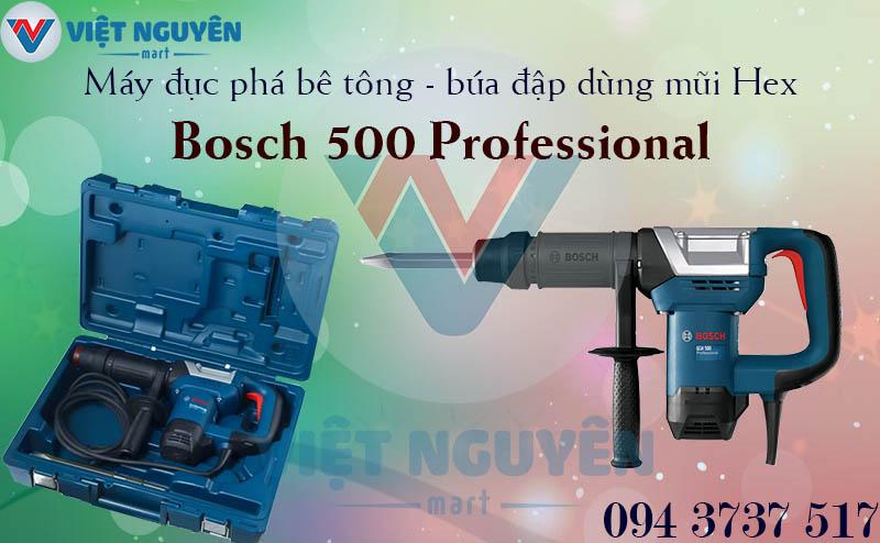 Máy Khoan Búa Đục Phá Bê Tông Bosch GSH 500 Dùng Mũi Hex