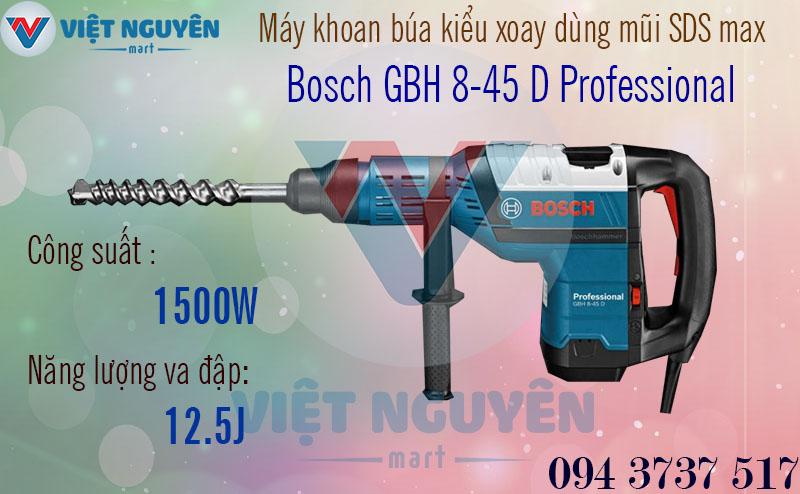 Máy Khoan Búa Bê Tông Điện Bosch GBH 8-45D Professional Chính Hãng