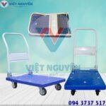 Phân phối xe đẩy hàng 4 bánh 200kg sàn nhựa XTB 100DN Phong Thạnh chính hãng