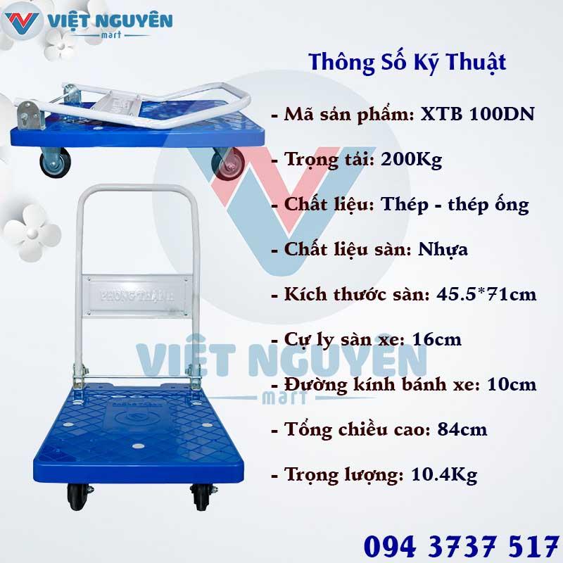 Tổng kho phân phối xe đẩy hàng 4 bánh Phong Thạnh 200 XTB 100DN Chính Hãng Giá Tốt