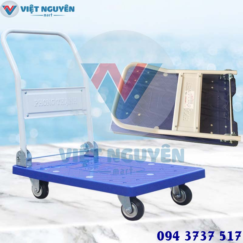 Đại lý xe đẩy hàng Phong Thạnh XTB 100DN 200KG chính hãng - giao hàng Toàn Quốc