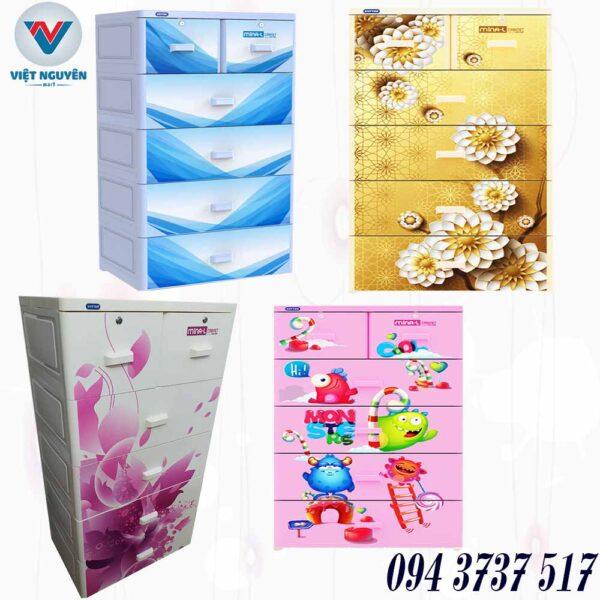 Đại lý tủ nhựa Duy Tân Mina L 5N 5 tầng 6 ngăn chính hãng giá tốt
