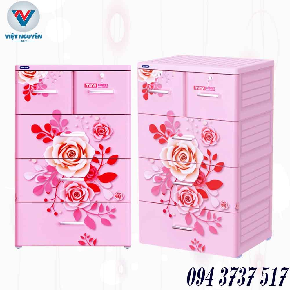 Đại lý tủ nhựa Duy Tân Mina 4N 4 tầng 5 ngăn chính hãng giá tốt