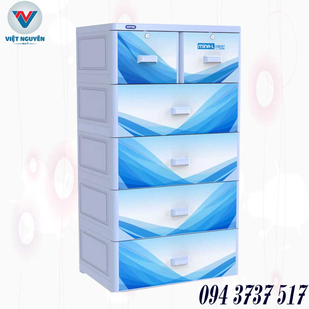 Quyền lợi khách hàng tủ nhựa Duy Tân Mina L 5 tầng 6 ngăn chính hãng