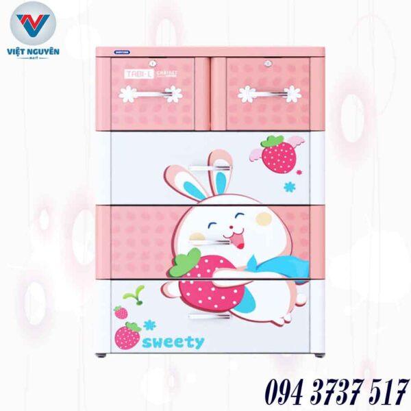 tủ nhựa Duy Tân Tabi L 4N 4 tầng 5 ngăn chính hãng