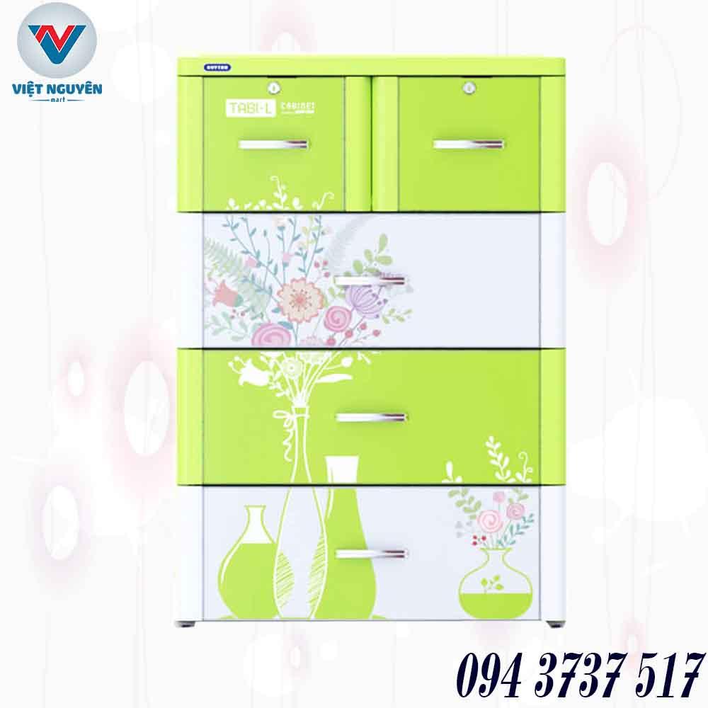 Đại lý tủ nhựa Duy Tân Tabi L 4N 5 ngăn 4 tầng chính hãng giá tốt