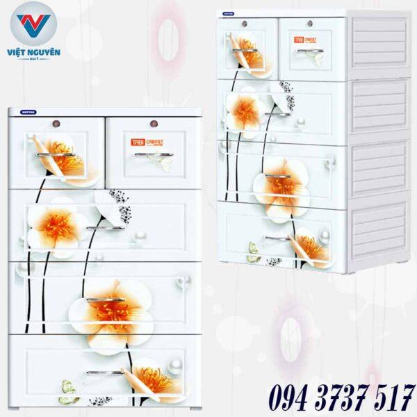 Cấu tạo tủ nhựa Duy Tân model TABI 4N ( 4 tầng 5 ngăn) chính hãng