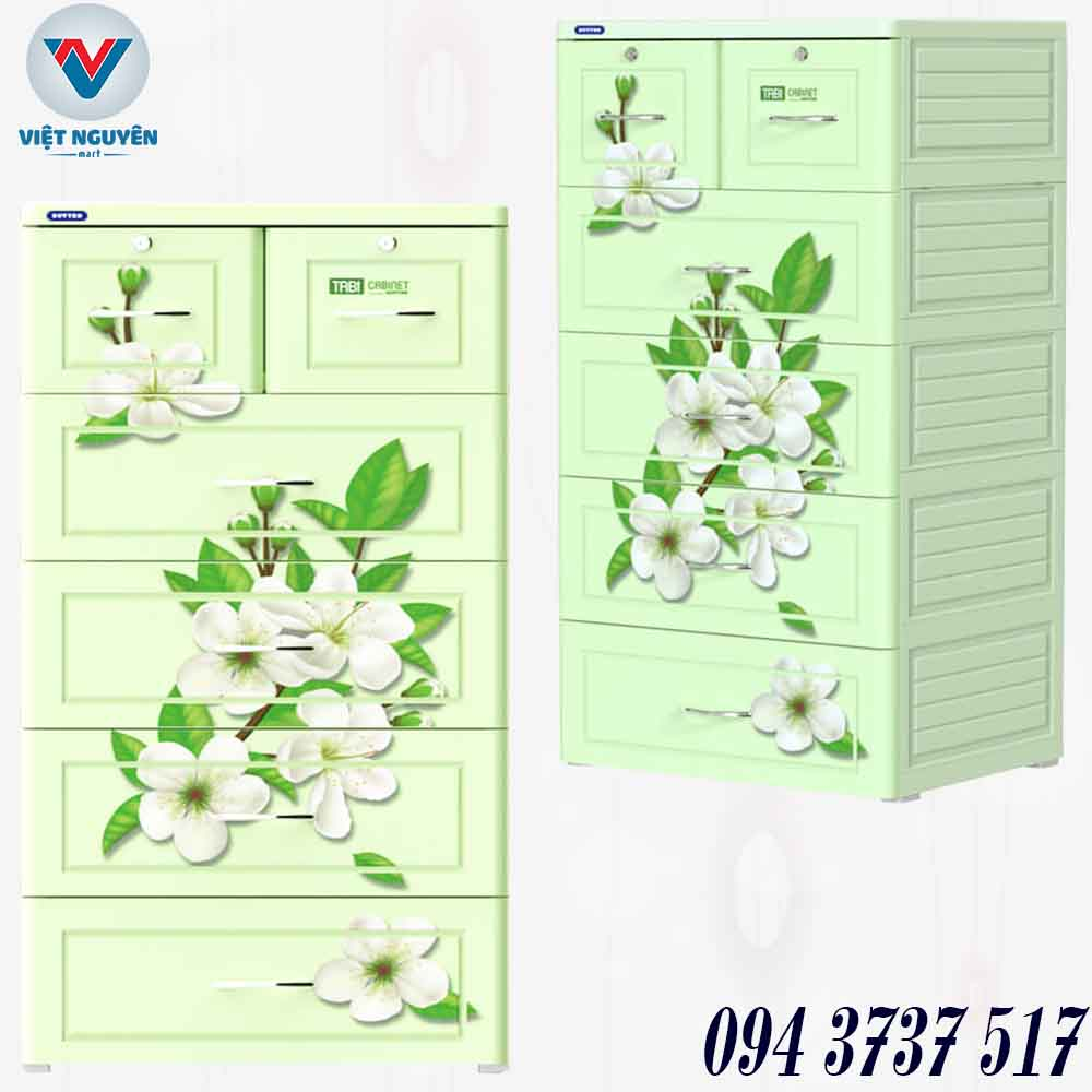 Cấu tạo tủ nhựa Duy Tân model TABI 5N ( 5 tầng 6 ngăn) chính hãng