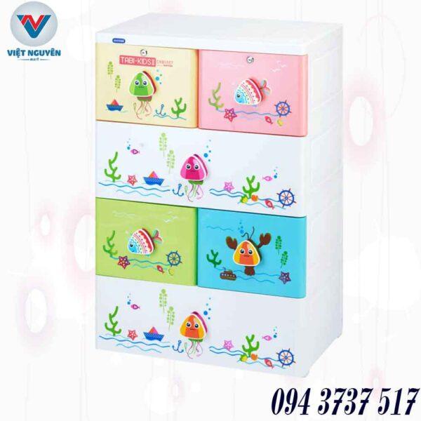 Đại lý tủ nhựa Duy Tân Tabi Kids II 4N 6 ngăn 4 tầng chính hãng giá tốt