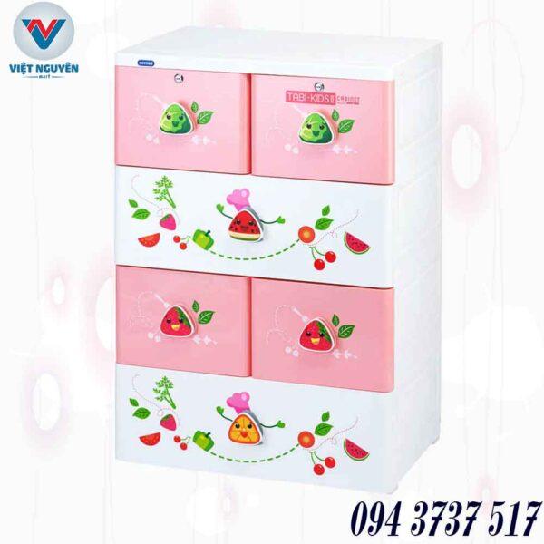 Công dụng tủ nhựa Duy Tân Tabi Kids II 4N ( 4 tầng 6 ngăn) đa năng