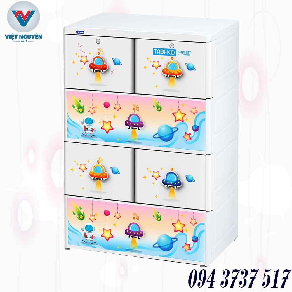 Cấu tạo tủ nhựa Duy Tân Tabi Kids II 4N ( 4 tầng 6 ngăn) cứng cáp và chắc chắn