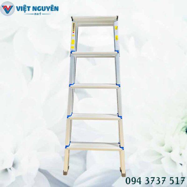 Đại lý thang nhôm chữ A 5 bậc mâm trắng nhỏ 1m45 Mitrita MTA05 chính hãng
