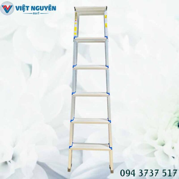 Đại lý thang nhôm chữ A 6 bậc mâm trắng nhỏ 1m75 Mitrita MTA06 chính hãng